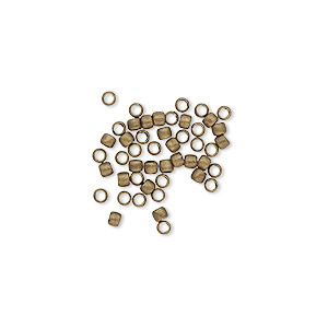 bead, antique gold-plated brass, 2mm micro round. sold per pkg of 500.