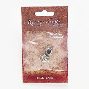 bead, antiqued silver-finished pewter (zinc-based alloy), 15x12mm rondelle with flower design, 7mm hole. sold per pkg of 2.