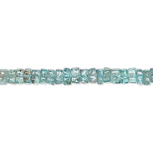 bead, apatite (natural), 4x1mm-5x3mm hand-cut heishi, c grade, mohs hardness 5. sold per 13-inch strand.