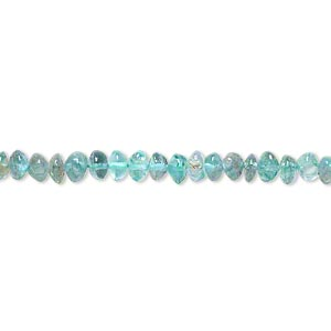 bead, apatite (natural), 4x2mm-5x4mm hand-cut saucer, c grade, mohs hardness 5. sold per 13-inch strand.