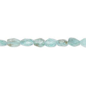 bead, apatite (natural), 6x4mm-8x5mm hand-cut faceted puffed oval, c grade, mohs hardness 5. sold per 13-inch strand.