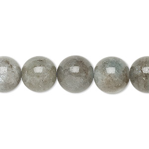 bead, aqua beryl (heated), 11-12mm round, c+ grade, mohs hardness 7-1/2 to 8. sold per 15-inch strand.