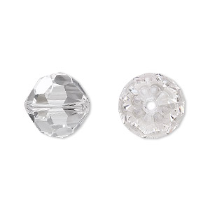 bead, asfour crystal, crystal, crystal clear, 14mm faceted round. sold per pkg of 10.