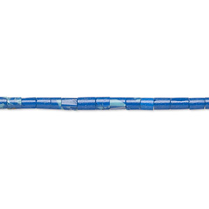 bead, azurite-malachite (imitation), 2-3mm heishi. sold per 22-inch strand.