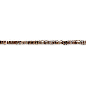 bead, baby olive shell (natural), 2mm hand-cut heishi with 0.5mm hole, mohs hardness 3-1/2. sold per 24-inch strand.