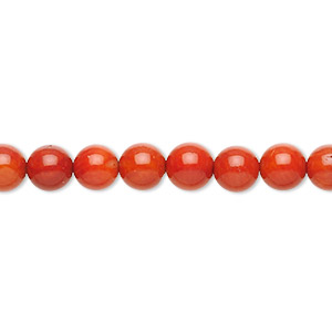 bead, bamboo coral (dyed), dark red, 6-8mm round, b- grade, mohs hardness 3-1/2 to 4. sold per 16-inch strand.