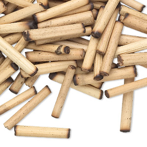 bead, bamboo (natural), 18x3mm-22x4mm round tube. sold per pkg of 100.