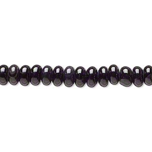bead, black agate (dyed / heated), 6x4mm rondelle, c- grade, mohs hardness 6-1/2 to 7. sold per 15-inch strand.