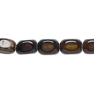 bead, black agate (dyed), small to medium pebble, mohs hardness 6-1/2 to 7. sold per 16-inch strand.