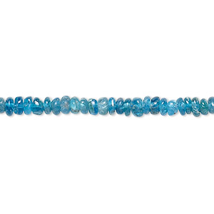 bead, blue apatite (natural), 3x1mm-4x3mm hand-cut rondelle, b- grade, mohs hardness 5. sold per 14-inch strand.