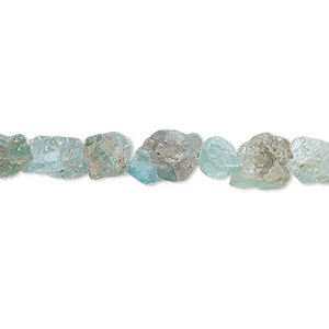 bead, blue apatite (natural), mini hand-cut rough nugget, mohs hardness 5. sold per 8-inch strand, approximately 25-30 beads.