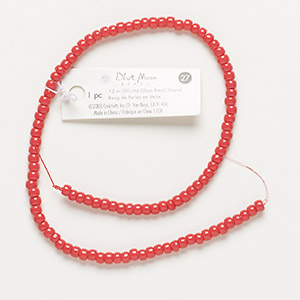 bead, blue moon beads, glass, coral pink, 4x3mm rondelle, 12 inches. sold individually.