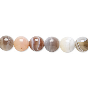 bead, botswana agate (natural), 8mm round, b grade, mohs hardness 6-1/2 to 7. sold per 16-inch strand.