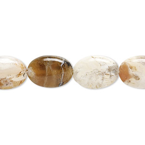 bead, brandy opal (natural), 14x10mm hand-cut puffed oval, b grade, mohs hardness 5-1/2 to 6-1/2. sold per 16-inch strand.