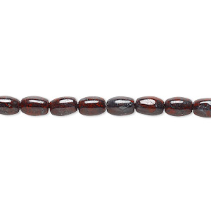 bead, brecciated jasper (natural), 6x4mm oval, b grade, mohs hardness 6-1/2 to 7. sold per 16-inch strand.
