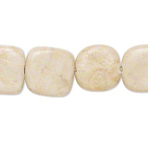 bead, brown feldspar (natural), 14x14mm-15x15mm rounded flat square, c- grade, mohs hardness 6 to 6-1/2. sold per 15-inch strand.