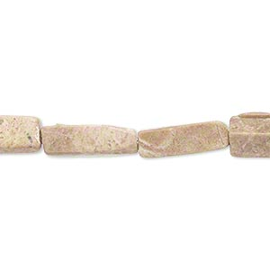 bead, brown feldspar (natural), 14x4mm-16x5mm square tube, c grade, mohs hardness 6 to 6-1/2. sold per 15-inch strand.