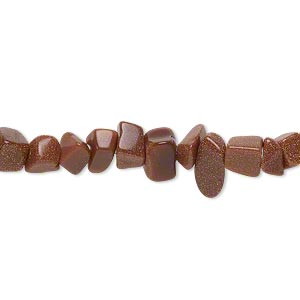 bead, brown goldstone (man-made), small chip. sold per 36-inch strand.