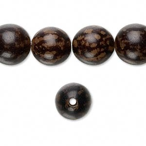 bead, buri root (coated), 11-13mm round. sold per 16-inch strand.