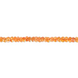 bead, carnelian (dyed / heated), 2x1mm-3x2mm hand-cut faceted rondelle, b- grade, mohs hardness 6-1/2 to 7. sold per 13-inch strand.
