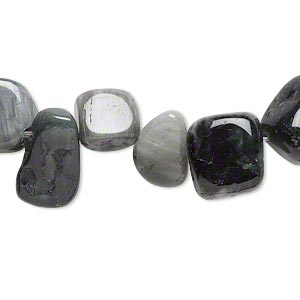 bead, cats eye quartz (natural), medium top-drilled chip, mohs hardness 7. sold per 16-inch strand.