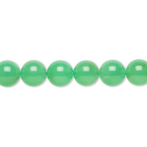 bead, chrysoprase (natural), 8mm round, b- grade, mohs hardness 6-1/2 to 7. sold per 15-inch strand.