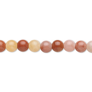 bead, colonial jasper (natural), 6mm round, b grade, mohs hardness 6-1/2 to 7. sold per 16-inch strand.