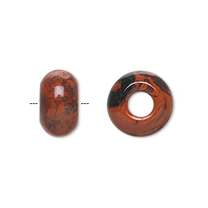 bead, dione, brecciated jasper (natural), 14x8mm rondelle with 5mm hole, b grade, mohs hardness 6-1/2 to 7. sold per pkg of 2.