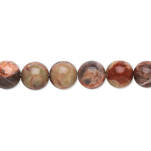 bead, dream jasper (natural), 8mm round, b grade, mohs hardness 7. sold per 16-inch strand.
