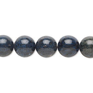 bead, dumortierite (natural), 10mm round, b grade, mohs hardness 7. sold per 16-inch strand.