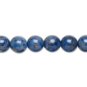 bead, dumortierite (natural), 8mm round, b grade, mohs hardness 7. sold per 16-inch strand.
