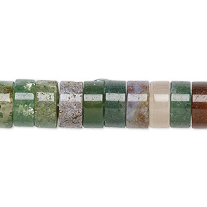bead, fancy jasper (natural), 10x5mm heishi with 2-2.5mm hole, b grade, mohs hardness 6-1/2 to 7. sold per pkg of 10.