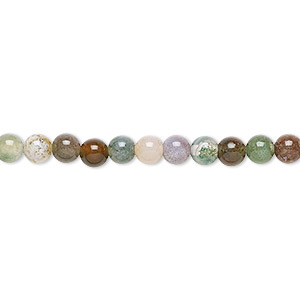 bead, fancy jasper (natural), 4mm round, b grade, mohs hardness 6-1/2 to 7. sold per 16-inch strand.