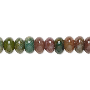 bead, fancy jasper (natural), 8x5mm rondelle, b grade, mohs hardness 6-1/2 to 7. sold per 16-inch strand.
