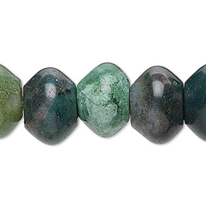 bead, fancy jasper (natural), 8x5mm saucer with 2-2.5mm hole, b grade, mohs hardness 6-1/2 to 7. sold per pkg of 10.