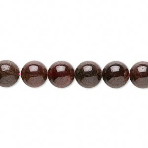 bead, garnet (dyed / oiled), 7-9mm round, c- grade, mohs hardness 7 to 7-1/2. sold per 15-inch strand.
