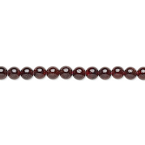 bead, garnet (dyed), 3-4mm round, c grade, mohs hardness 7 to 7-1/2. sold per 15-inch strand.