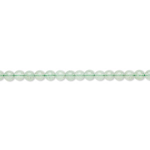 bead, green aventurine (natural), light to medium, 3mm round, b grade, mohs hardness 7. sold per 16-inch strand.