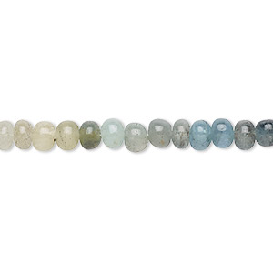 bead, green beryl (natural / dyed / heated), shaded, 4x2mm-5x4mm hand-cut rondelle, c- grade, mohs hardness 7-1/2 to 8. sold per 13-inch strand.