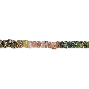 bead, green tourmaline / pink tourmaline / amber tourmaline (natural), 4x2mm-5x3mm hand-cut rondelle, c- grade, mohs hardness 7 to 7-1/2. sold per 13-inch strand.