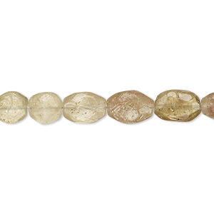 bead, grossularite garnet (natural), 7x6mm-11x8mm hand-cut faceted oval, c grade, mohs hardness 6-1/2 to 7-1/2. sold per 8-inch strand.