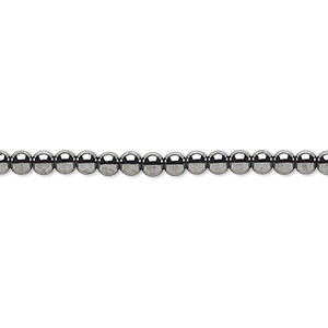 bead, hemalyke™ (man-made), 3mm round. sold per 16-inch strand.