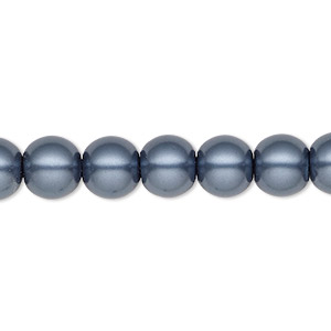 bead, hemalyke™ (man-made), blue, 8mm round. sold per 16-inch strand.