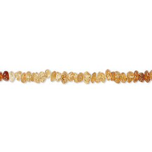 bead, hessonite garnet (natural), shaded, mini hand-cut chip, mohs hardness 7 to 7-1/2. sold per 14-inch strand.