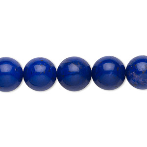 bead, howlite (dyed), lapis blue, 10mm round, b grade, mohs hardness 3 to 3-1/2. sold per 16-inch strand.