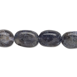 bead, iolite (natural), 12x9mm-16x11mm hand-cut flat oval, c- grade, mohs hardness 7 to 7-1/2. sold per 13-inch strand.