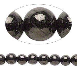 bead, jet (natural), 6mm hand-cut round, a- grade, mohs hardness 2-1/2 to 4. sold per 16-inch strand.