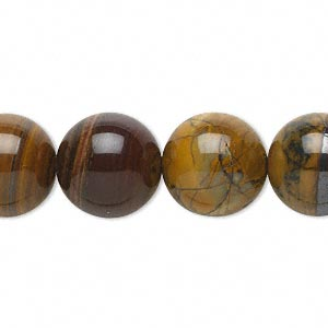 bead, jupiter jasper (natural), 14mm round, b grade, mohs hardness 6-1/2 to 7. sold per 16-inch strand.