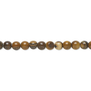 bead, jupiter jasper (natural), 4mm round, b grade, mohs hardness 6-1/2 to 7. sold per 16-inch strand.