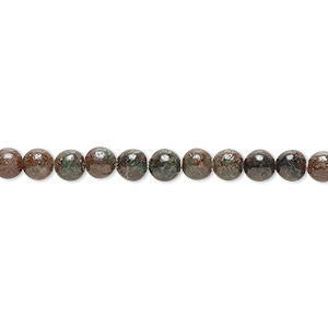 bead, kashgar garnet (natural), 4mm round, b grade, mohs hardness 7 to 7-1/2. sold per 16-inch strand.
